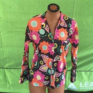 Vera Bradley blouse  floral button down